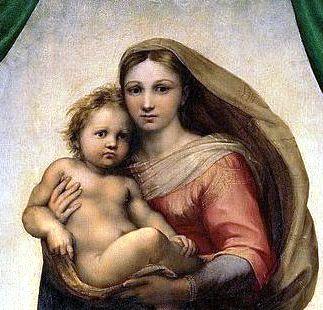 RAFAEL_-_Madonna_Sixtina_(Gemäldegalerie_Alter_Meister,_Dresden,_1513-14__Óleo_sobre_lienzo,_265_x_196_cm) - Copia