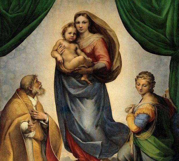 RAFAEL_-_Madonna_Sixtina_Gemäldegalerie_Alter_Meister_Dresden_1513-14__Óleo_sobre_lienzo_265_x_196_cm-3-e1546193316892.jpg