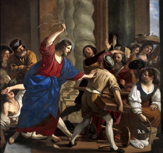 Cristo che scaccia i mercanti dal Tempio, Guercino