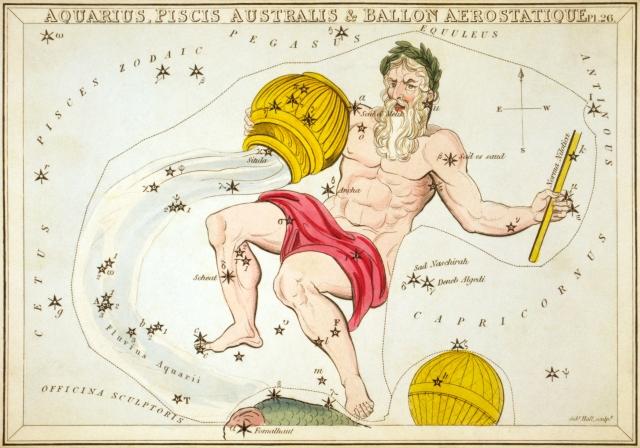 (Una rappresentazione immaginativa della costellazione dell'Acquario risalente al 1825)