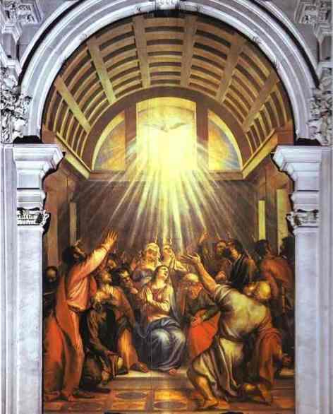 Tiziano , la Pentecoste, Basilica di S. Maria della salute, Venezia